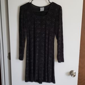 Long sleeve sequence party dress